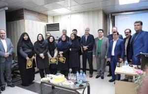 مراسم تجلیل از حسابداران اداره امور مالی بیمه سلامت خوزستان برگزار شد