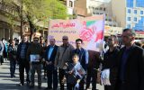 حضور پرشور کارکنان بیمه سلامت خوزستان در راهپیمایی ۲۲ بهمن